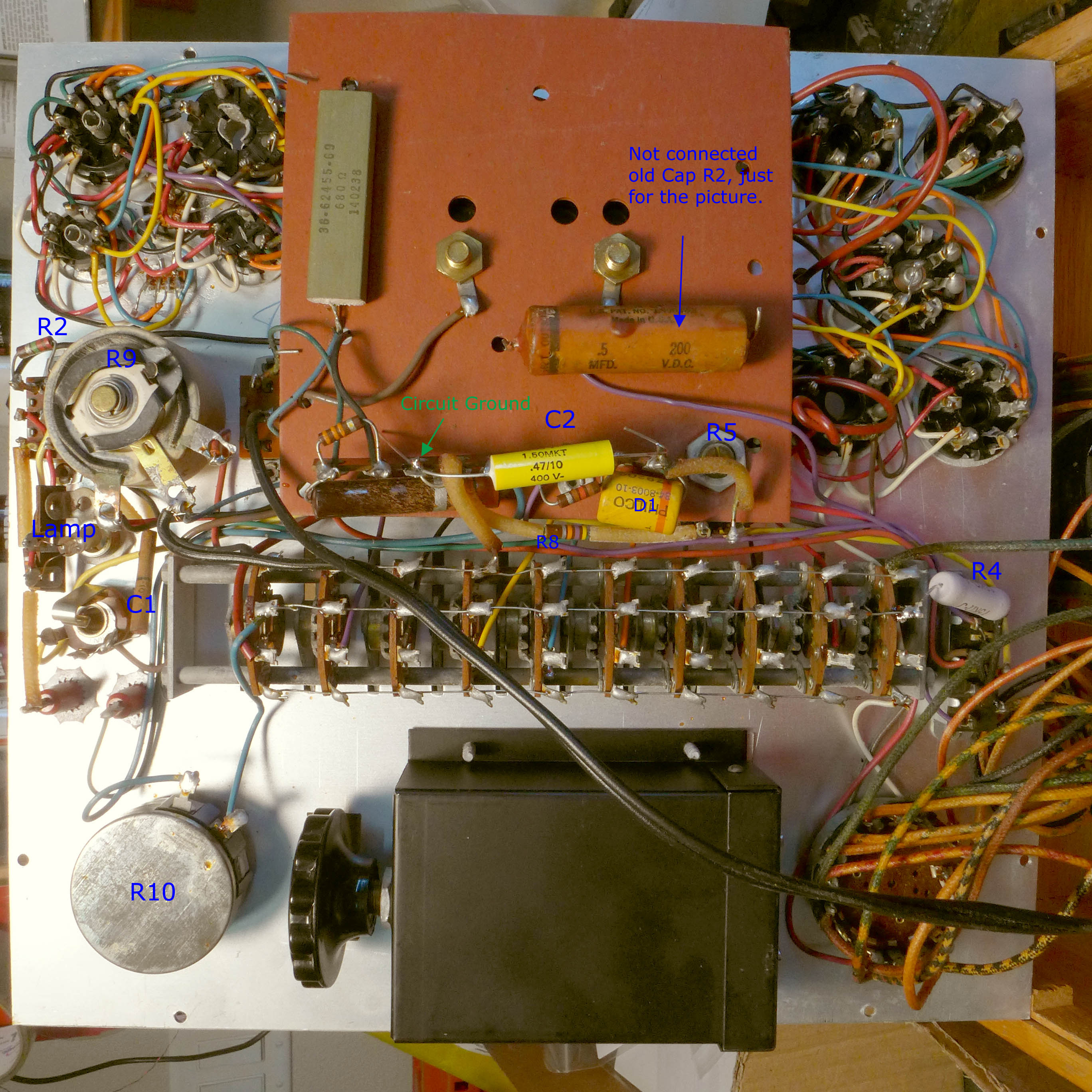 Superior Instruments Company Sico Tube Electrical Wiring To The Transformer Is At Right
