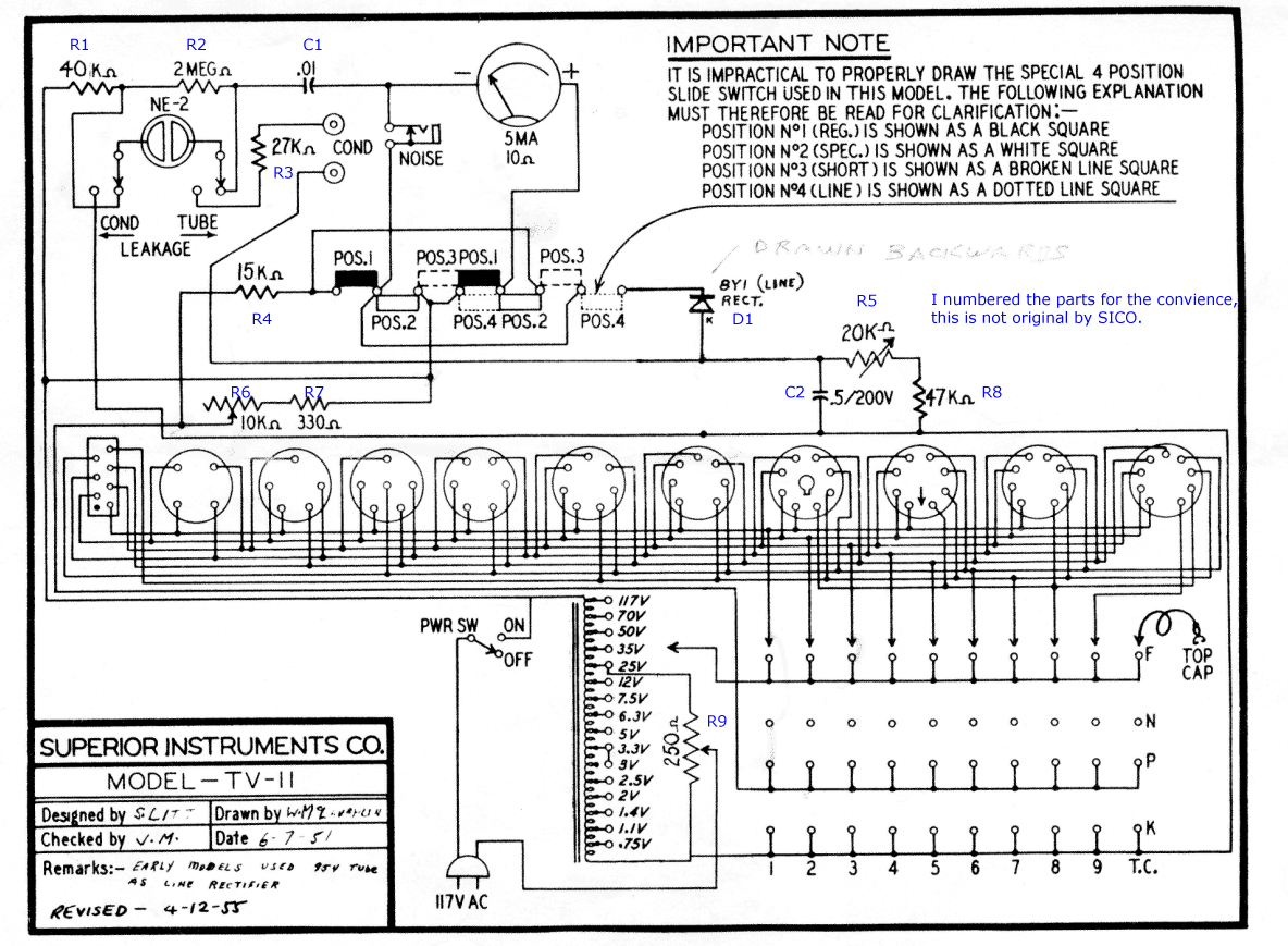 About Calibration Of Tube Testers Weston Ct Wiring Diagram The Schematic